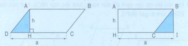 chứng minh công thức tính diện tích hình bình hành